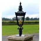 Harrogate Pillar Light and Lantern Set in Situ on a Driveway
