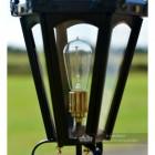 Black Hexagonal Pillar Lantern