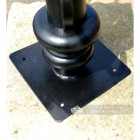 Base of the Black Hexagonal Pillar Light and Lantern Set