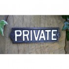 Black Iron 'Private' Sign