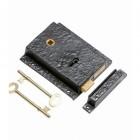 Rustic Black Iron Rim Lock Set