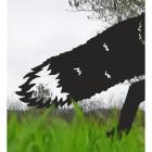 Tail on the Black Iron Silhouette Fox