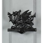 Welsh Dragon Door Knocker In Black Finish