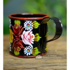 Black  Narrow Boat Mug in a Hand Painted Finish