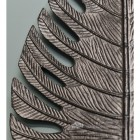 Black Palm Leaf Ornamental Wall Art Close Up