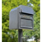 "Black ""Royal Farringdon"" Black Post Box With Gold Lettering"
