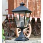 Black Simplistic Victorian Pillar Light