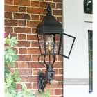 Black Simplistic Victorian Wall Light Installed In Porch