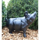 Black pig sculpture