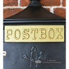 Black Suffolk Post or Parcel Box With Gold Letter Slot