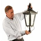 Victorian Lamp Post Black - Lantern Size