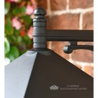 Large Black Simplistic Suspended Victorian Wall Lantern