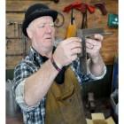 Blacksmith Joist Hangers being Measured in the Workshop