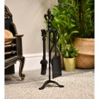 Blacksmith Style Companion Set in Situ Next to the Fireplace