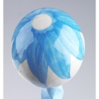 Hand painted baby blue ceramic balls