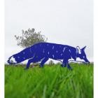 Iron Silhouette Fox in Blue