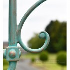 Blue Lamp Post Decorative Scrollwork