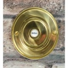 Sovereign Park Polished Brass Classic Bell Push