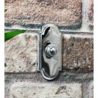 Rectangle arched door buzzer finished in bright chrome