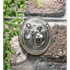 Traditional bright chrome door bell buzzer