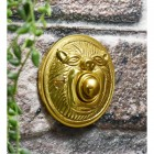 Brass old fashioned lion bell push button