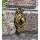 Solid brass door bell push