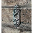 Antique Gothic Bell Push in a Bright Chrome Finish