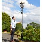 Antique Brass Dorchester Lamp Post & Lantern Set 3.25m