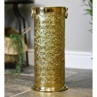 """Rosecroft Manor"" Ornate Umbrella Stand Finished in a Polished Brass"