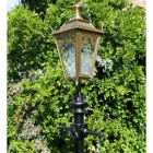 Antique Brass Gothic Lamp Post & Lantern Set 3.25m