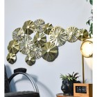 Brass Lilly Pad Wall Art in Situ