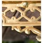 Ornate Patterns on the Brass Serpent Design Shelf Bracket