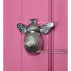 Bright Chrome Bumble Bee Door Knocker