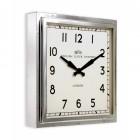 Bright Chrome Contemporary Wall Clock