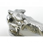 Bright Chrome Running Fox Door Knocker