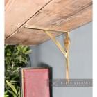 Polished Brass Gallows Bracket holding up a Shelf