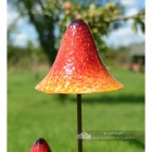 Bright Orange Mushroom Garden Spike