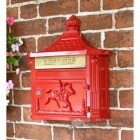 """Scorched Cranberry"" Red Huntingdon Wall Mounted Post Box"