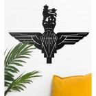 British Parachute Regiment Wall Art on the Wall Next to Plants
