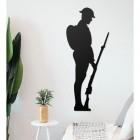 British Soldier Wall Art in Situ