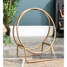 Modern Circular Log holder in Bronze
