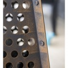 Close-up of the Dotted Design on the Fire Basket