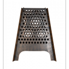 Contemporary Fire Basket Finished in Bronze