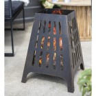 Bronze Contemporary Style Fire Basket in Situ in the Garden