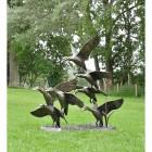 Aluminium Bronze Finish Flying Duck Sculpture