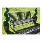 "Robust ""Chatham"" Park Bench in Situ in the Garden"