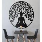 """Buddha Tree"" Wall Art in the Living Room"