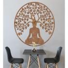 """Buddha Tree"" Rustic Wall Art in the Living Room"