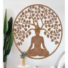 """Buddha Tree"" Rustic Wall Art in the Home"