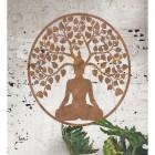 """Buddha Tree"" Rustic Wall Art in Situ on a Rustic Brick Wall"